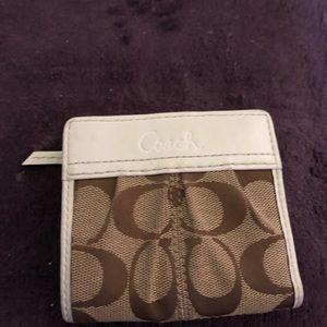 Coach Signature mini wallet